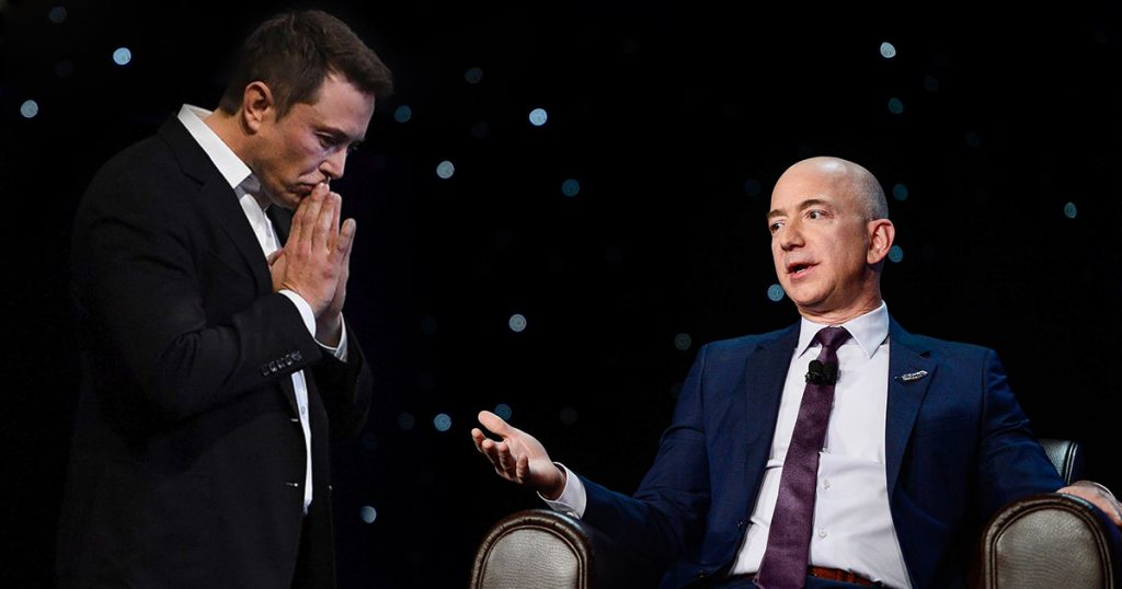 Billionaire Elon Musk Jeff Bezos