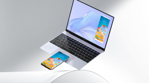 The new MateBook X features a larger trackpad with a built in NFC tag to connect to a Huawei smartphone. Image: Huawei