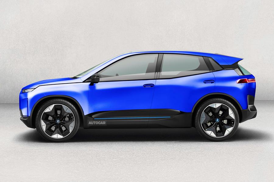 BMW iX1 rendered by Autocar
