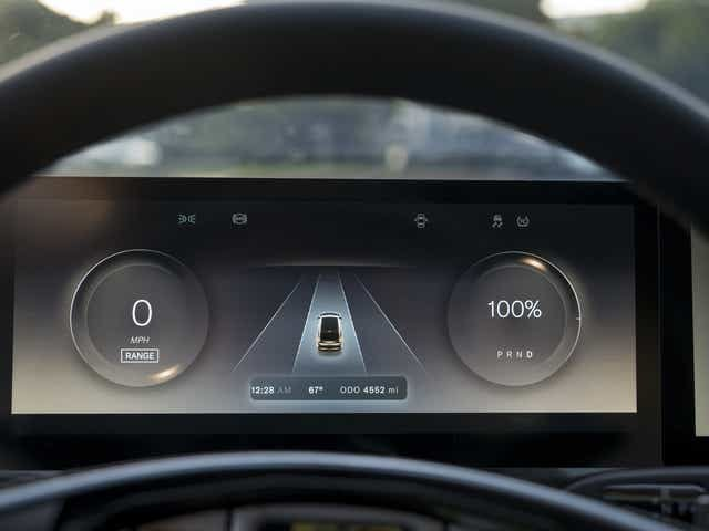 """The dashboard of a Lucid Air prototype. As in many other luxury cars, the system's voice-recognition software will respond to natural speech patterns. The interface also has a virtual """"assistant"""" that learns one's preferred music and climate settings. DAVID PAUL MORRIS, BLOOMBERG"""