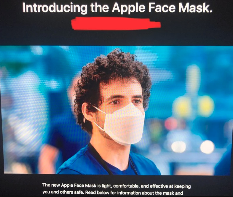 Apple's Face Mask for retail - Image Credit: MacRumors