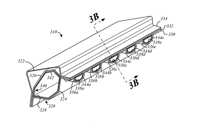 How Apple plans to make more room for ventilation in a car body by carefully designing and shaping support structures