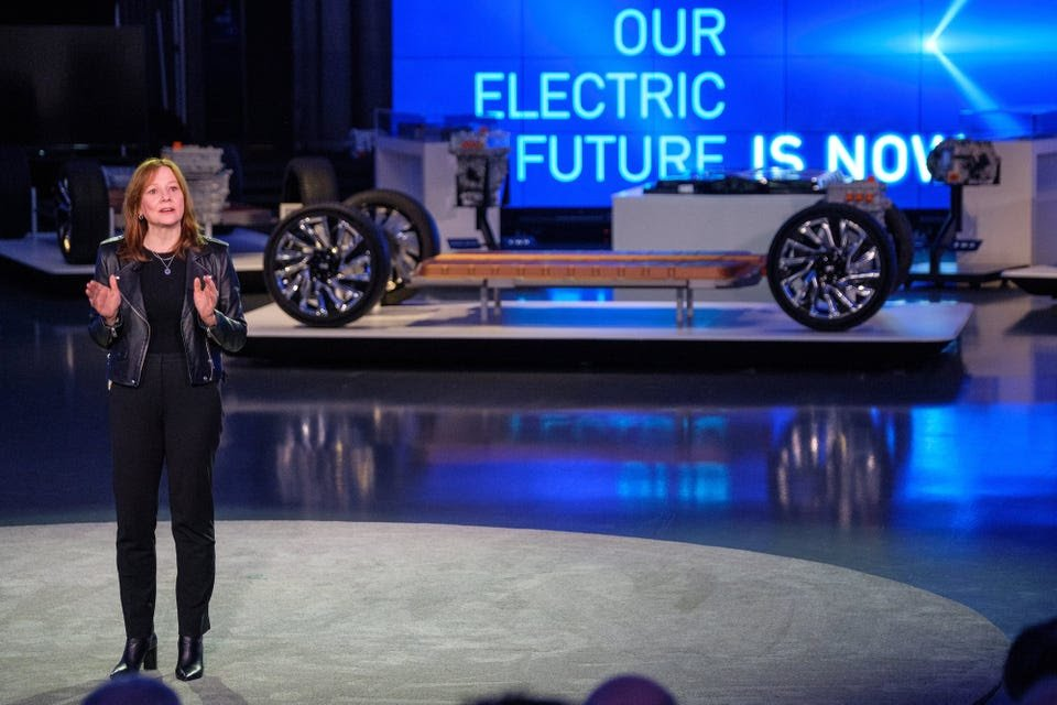 Mary Barra presented GM's electric strategy in early 2020. GM