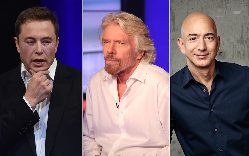 Jeff Bezos Elon Musk Richard Branson