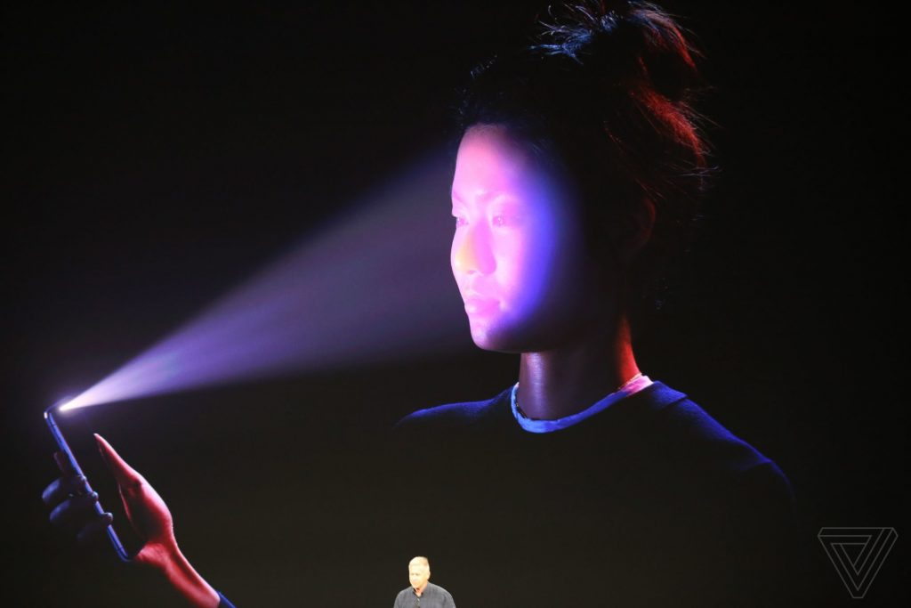 Apple's Face ID tech. Photo by Dieter Bohn / The Verge