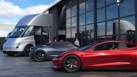 Cybertruck Tesla Semi Roadster