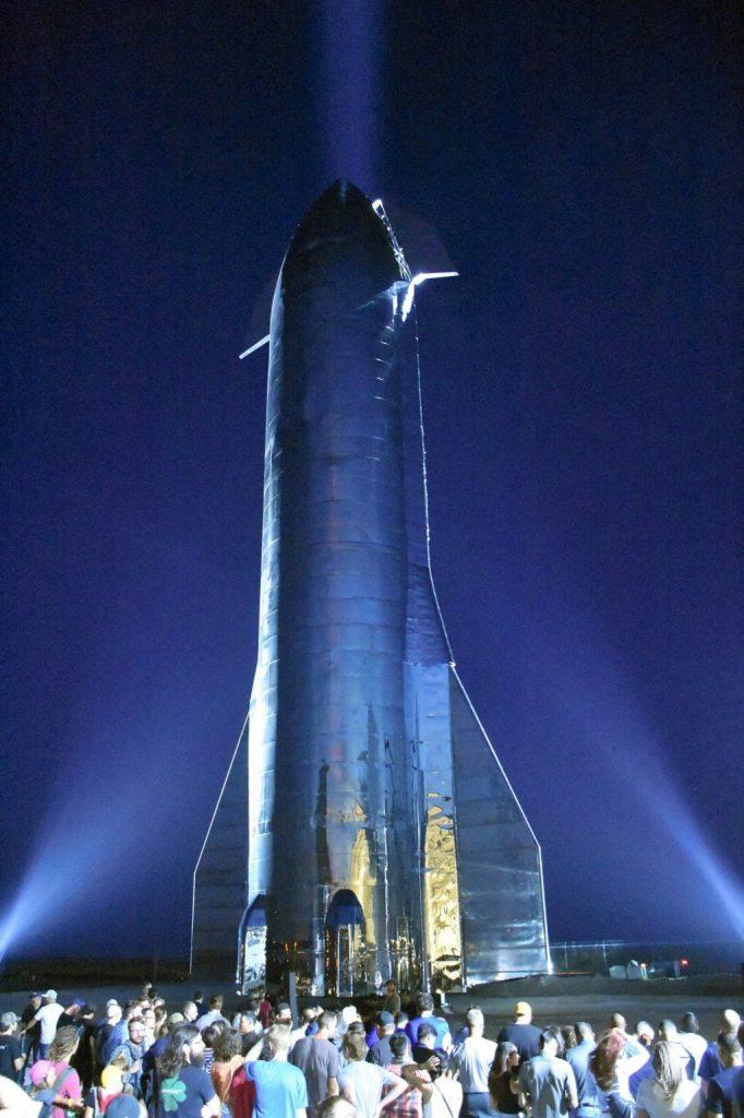 SpaceX's Starship prototype at the company's launch facility in Texas The Asahi Shimbun via Getty Images