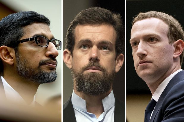 Mark Zuckerberg Sundar Pichai Jack Dorsey