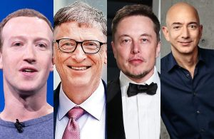 Mark Zuckerberg Bill Gates Elon Musk Jeff Bezos