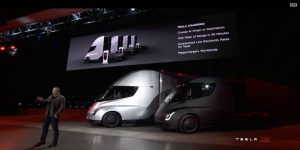 Tesla Semi electric trucks