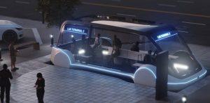 Tesla bus Boring company