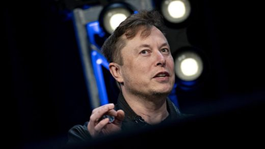 Elon Musk, founder of SpaceX and chief executive officer of Tesla Inc., speaks during a discussion at the Satellite 2020 Conference in Washington, D.C., U.S., on Monday, March 9, 2020. The event comprises important topics facing both satellite industry and end-users, and brings together a diverse group of thought leaders to share their knowledge.