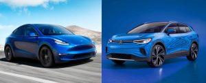 Tesla Model Y Volkswagen ID.4