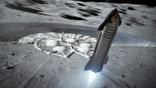 SpaceX Starlink Moon
