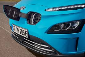 The charging port is handily located at the front of the car