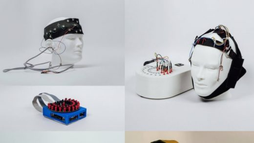 A prototype from Project Amber of an EEG headset.Alphabet