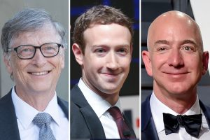 Bill Gates Mark Zuckerberg Jeff Bezos