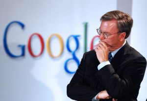SOUTH KOREA - MAY 30:  Eric Schmidt, chief executive officer of Google Inc., listens to a question during a news conference at the Seoul Digital Forum 2007 in Seoul, South Korea, on Wednesday, May 30, 2007. The Seoul Digital Forum, an annual technology forum sponsored by Korean broadcaster Seoul Broadcasting System, will be held from May 29 to May 31.  (Photo by Seokyong Lee/Bloomberg via Getty Images)