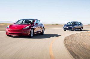 Nissan Leaf Tesla Model 3