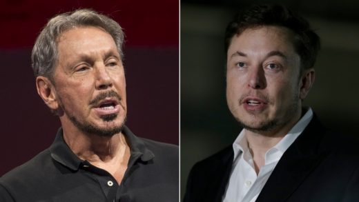 Elon Musk Tesla Larry Ellison Oracle
