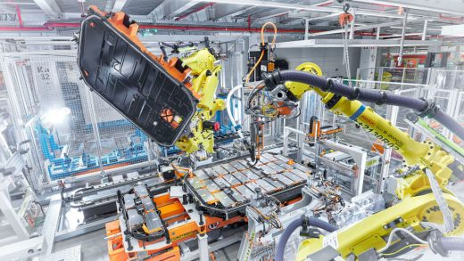 Audi electric-vehicle battery pack production in Belgium. Source: Audi