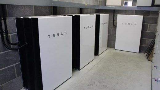 The Tesla Powerwalls installed at the Hilsea Industrial Estate. Image: Portsmouth City Council.