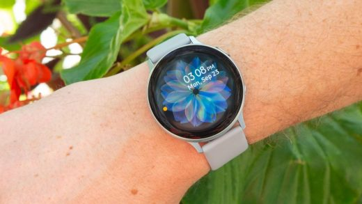OnePlus Watch rumored to be round, like the Samsung Galaxy Watch Active 2 (above) (Image credit: Future)
