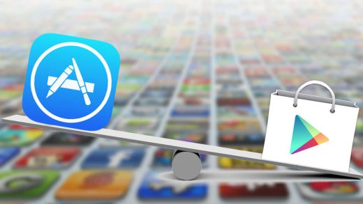 App Store and Google Play