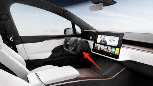 Tesla Model X interior. Tesla