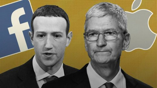 Apple CEO Tim Cook and Facebook CEO Mark Zuckerberg