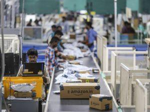 An Amazon.com Inc. fulfillment center in Hyderabad, India. Photographer: Dhiraj Singh/Bloomberg