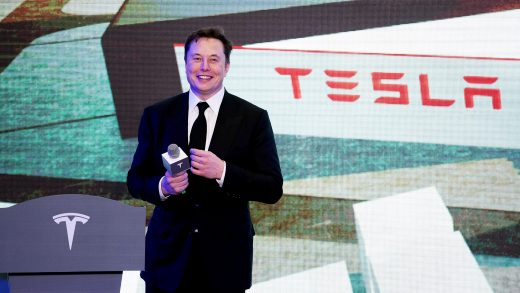 Elon Musk attends an opening ceremony for Tesla China-made Model Y program in Shanghai, China, on Jan. 7, 2020. (Photo by Ding Ting/Xinhua via Getty) (Xinhua/Ding Ting via Getty Images)