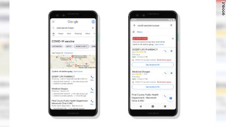 Google Maps and search results will soon show vaccination sites.