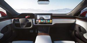Tesla Model S interior. Tesla
