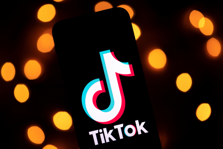 This photo taken on November 21, 2019, shows the logo of the social media video sharing app Tiktok displayed on a tablet screen in Paris. (Photo by Lionel BONAVENTURE / AFP) (Photo by LIONEL BONAVENTURE/AFP via Getty Images)