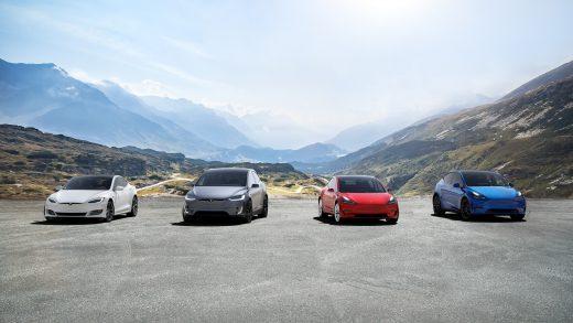 Tesla Model Y and Tesla Model S and Tesla Model 3 and Tesla Model X