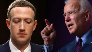 Mark Zuckerberg and Joe Biden
