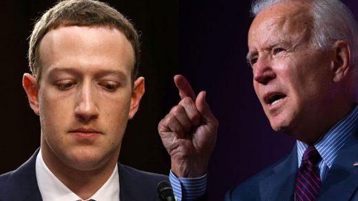 Mark Zuckerberg and Joe Biden