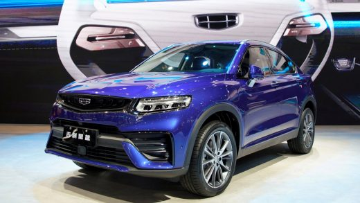 FILE PHOTO: A Geely Xingyue Coupe SUV is seen displayed at the second media day for the Shanghai auto show in Shanghai, China April 17, 2019. REUTERS/Aly Song