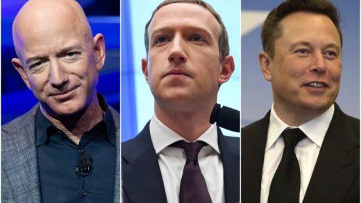 Tesla Amazon Facebook Elon Musk Jeff Bezos Mark Zuckerberg