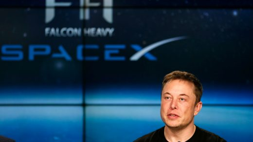 FILE PHOTO: SpaceX founder Elon Musk speaks at a press conference following the first launch of a SpaceX Falcon Heavy rocket at the Kennedy Space Center in Cape Canaveral, Florida, U.S., February 6, 2018. REUTERS/Joe Skipper/File Photo - RC15B6B3A870