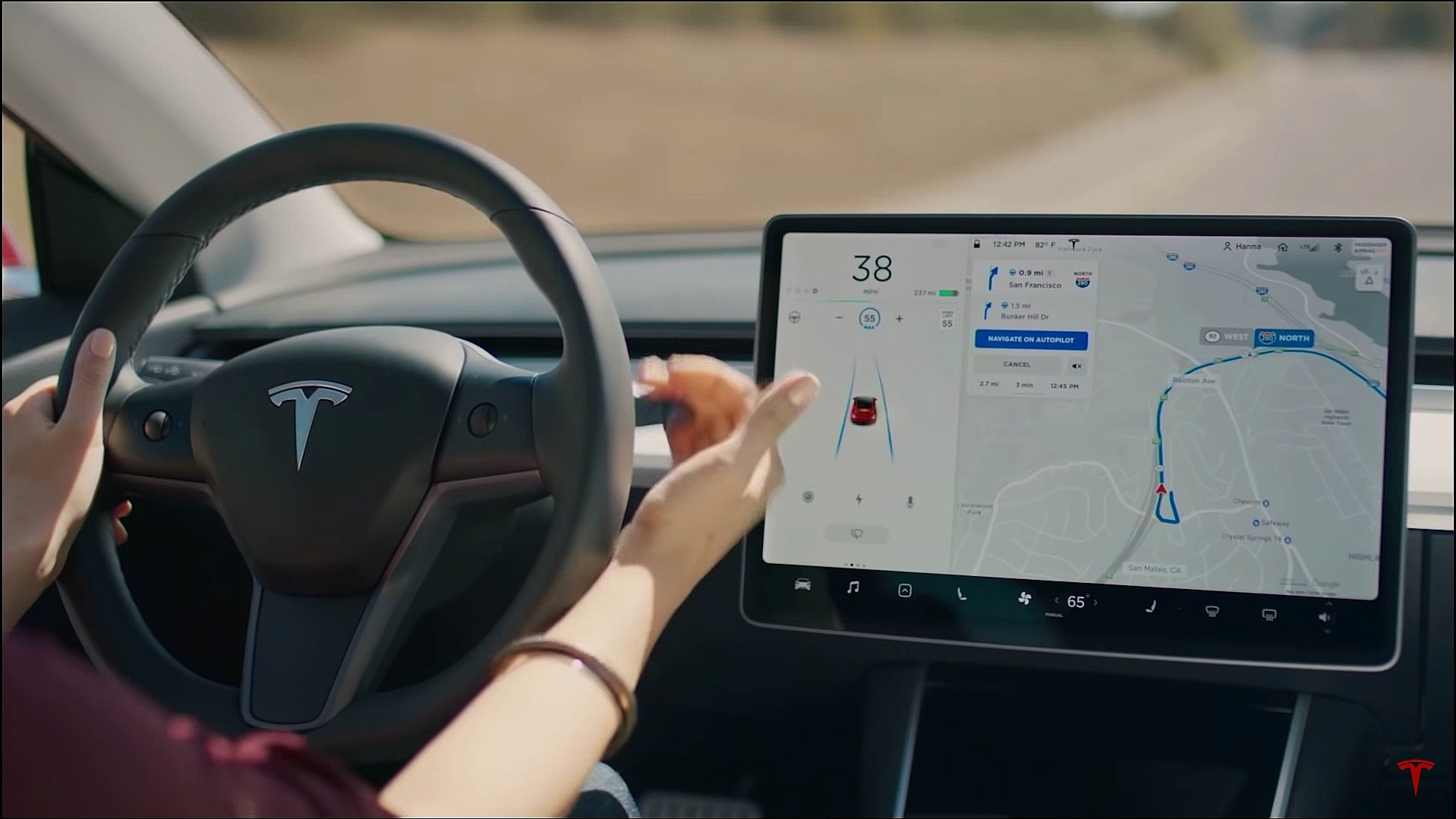 The latest is that Tesla will offer the feature as a subscription in early 2021. Brandon M. / YouTube
