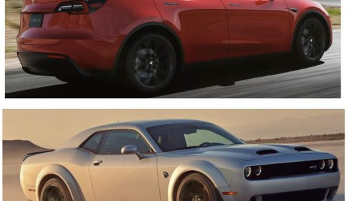 Tesla Dodge Challenger Los Angeles
