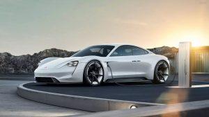 2021 Porsche Taycan base (Credit: Porsche)