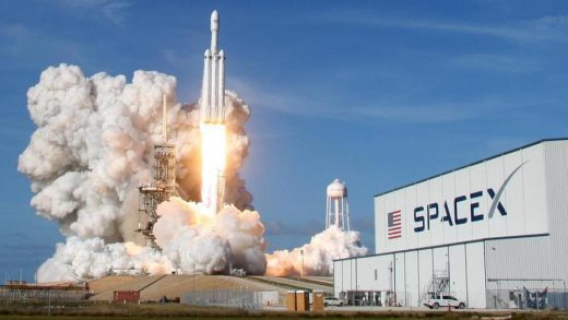 The SpaceX Falcon 9 lifting off from Kennedy Space Center in May last year. Joe Burbank/Orlando Sentinel/Tribune News Service/Getty Images