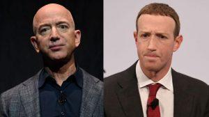 Amazon's Jeff Bezos  CEO, Facebook's Mark Zuckerberg