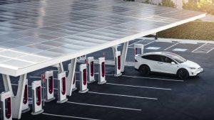 Tesla Supercharger V3 stalls in Shanghai, China (Credit: Tesla China)