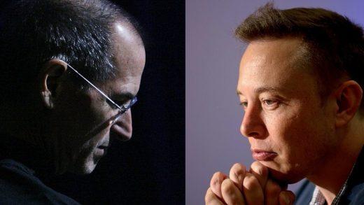 Tesla CEO Elon Musk Steve Jobs