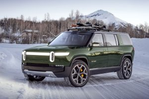 The R1S SUV from Rivian arrives in August. (Rivian)