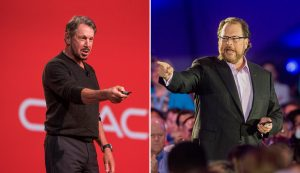 Marc Benioff and Larry Ellison